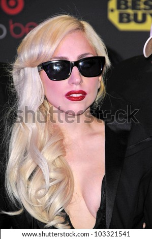 "Lady Gaga  at a signing for the CD ""The Fame Monster,"" Best Buy, Los Angeles, CA. 11-23-09 - stock photo"
