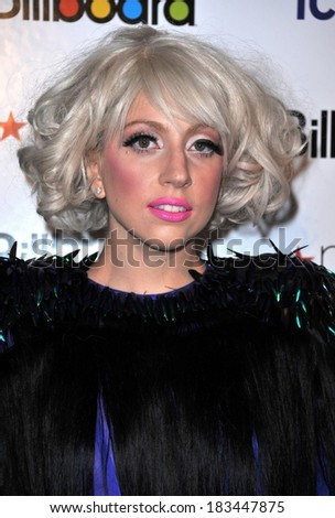Lady Gaga at Billboard's Women in Music Brunch, The Pierre Hotel, New York, NY October 2, 2009  - stock photo
