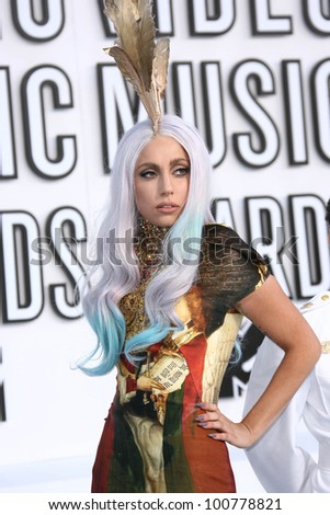 Lady Gaga  at the 2010 MTV Video Music Awards, Nokia Theatre L.A. LIVE, Los Angeles, CA. 08-12-10 - stock photo