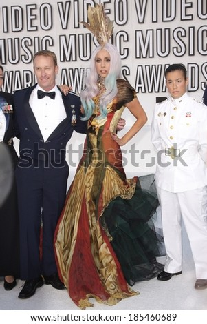 Lady GaGa, in an Alexander McQueen gown, at 2010 MTV Video Music Awards VMA's-ARRIVALS-NO US PRINT USAGE UNTIL 9/16/2010, Nokia Theatre LA LIVE, Los Angeles September 12, 2010 - stock photo