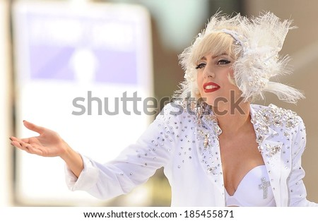 Lady Gaga on stage for NBC Today Show Concert with Lady Gaga, Rockefeller Plaza, New York, NY July 9, 2010 - stock photo