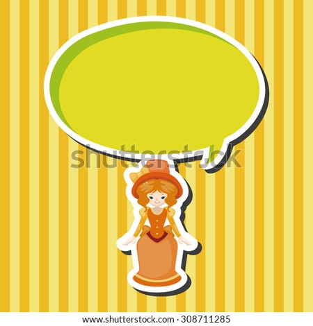 lady girl cartoon, cartoon speech icon