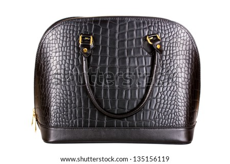 Lady hand bag on isolated background - stock photo
