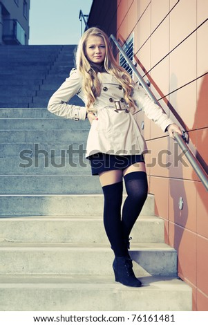 Lady in stairway