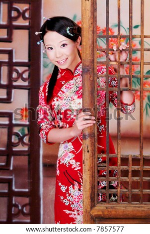 Lady in traditional Chinese dress