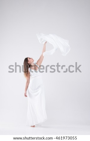 Lady in white sexy girl in a white dress, a girl on a light background, brunette in a white dress,