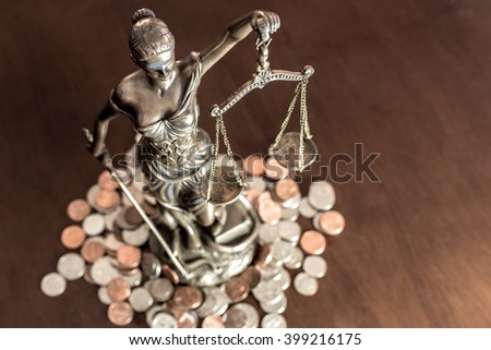 Lady Justice and space for text - stock photo