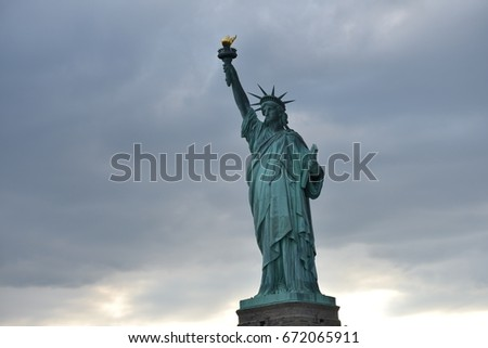 Lady Liberty in NYC, on the Fourth of July