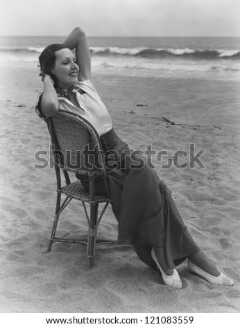 Lady of leisure - stock photo