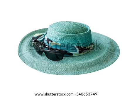 lady's hat isolated on a white background with clipping path  - stock photo