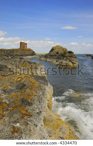 Lady's Tower, medieval changing room for aristocrats - stock photo