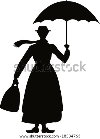 mary poppins coloring pages already colored | Mary Poppins Umbrella Stock Vector 233650879 - Shutterstock