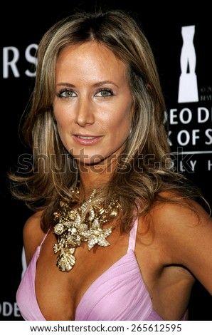 Lady Victoria Hervey attends the Rodeo Drive Walk Of Style Award honoring Gianni and Donatella Versace held at the Beverly Hills City Hall in Beverly Hills, California on February 8, 2007.  - stock photo
