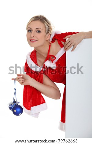 lady wearing a Christmas costume