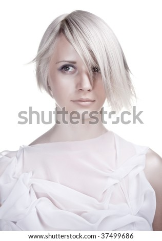 Lady with original haircut