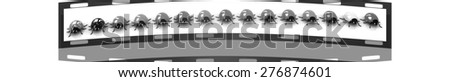 Ladybirds on a white background. The film strip - stock photo