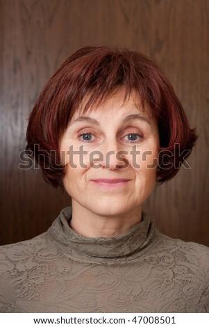 ladys profile - stock photo