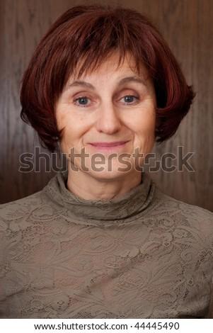 ladys profile photo - stock photo