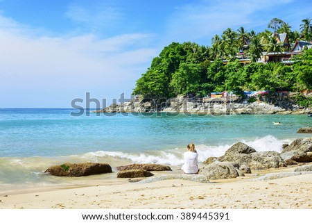 Laem Sing Beach, Located in Phuket, Thailand.