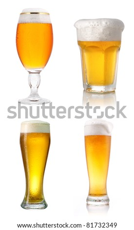 lager beer collection - stock photo