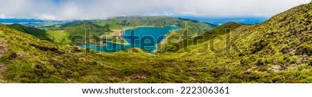 Lagoa do Fogo Sao Miquell- Azores. - stock photo