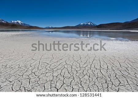 Lagoon in Bolivia - stock photo