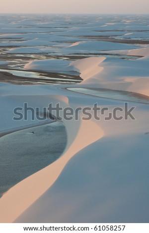 Lagoon in Lencois Maranhenses - stock photo