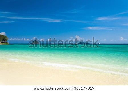 Lagoon Landscape Divine Coastline  - stock photo