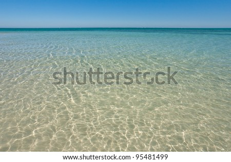 Lagoon of Salary, south-western Madagascar - stock photo
