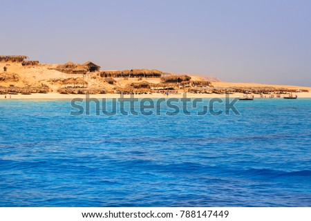 Lagoon of the Red Sea at Mahmya island, Egypt