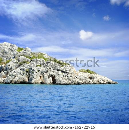 Lagoon Sea Water - stock photo