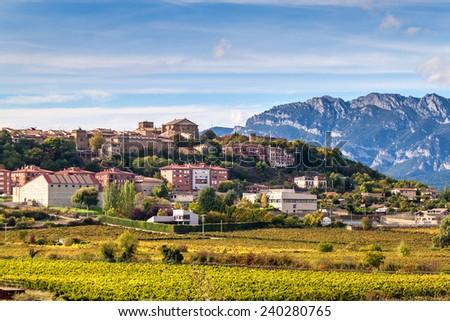 Laguardia village in northern Spain - stock photo