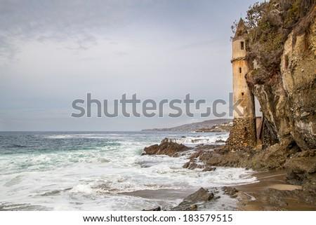 Laguna beach coastline, California, USA - stock photo