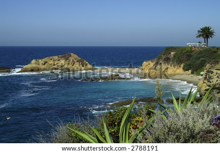 Laguna Beach Coastline near Montage Resort - stock photo
