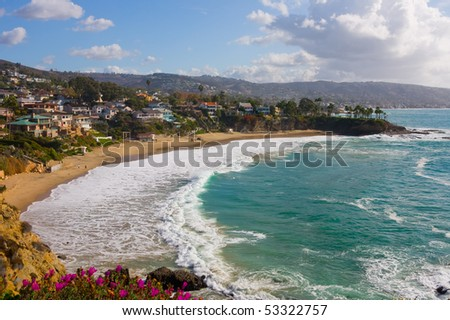 Laguna Beach, Crescent Cove - stock photo