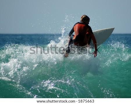 Laguna Surfer - stock photo