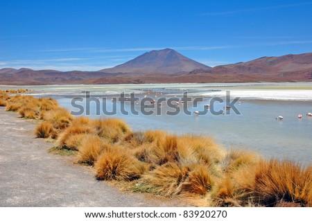 Laguna Verde, Salar de Uyuni, Bolivia - stock photo
