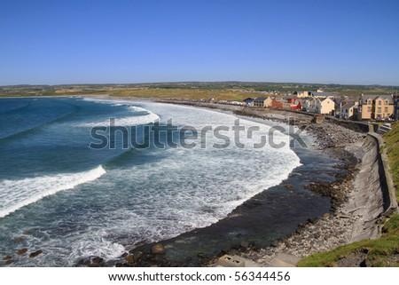 Lahinch beach scenery - Ireland - stock photo