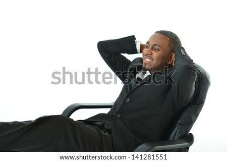 Laid back businessman - stock photo