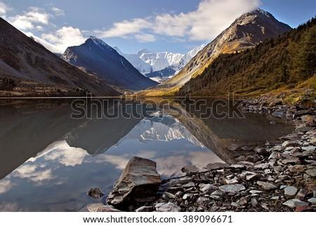 Lake Akkem, Altai Mountains, Russia - stock photo