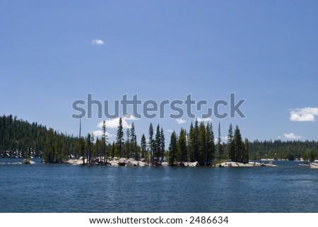 Lake Alpine - stock photo