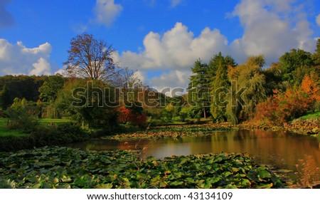 Lake and Blue sky - stock photo
