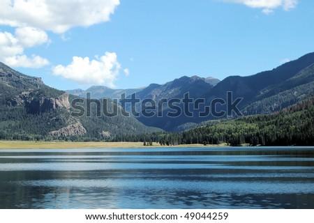 Lake and Moutain, Williams Lake, Colorado - stock photo