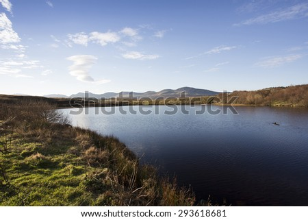 lake and pool in scotland - stock photo