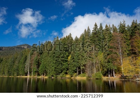 Lake Arber in Bavaria, Germany during Fall. (Grosser Arbersee)