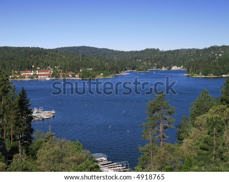 Lake Arrowhead, California - stock photo