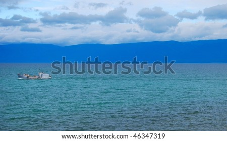 Lake Baikal. Fishing boat.