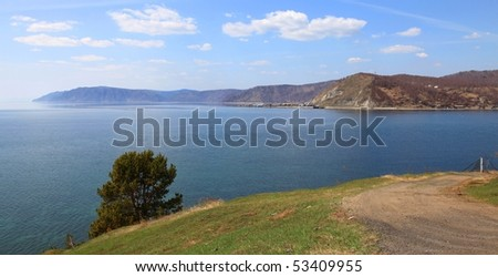 Lake Baikal. Spring. - stock photo