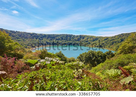 Lake Botos, Poas Volcano, Costa Rica, Central America - stock photo