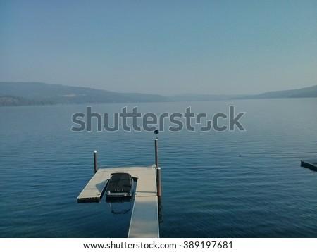 Lake Coeur D'alene - stock photo